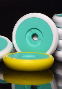 CLR Dynamic Bases - White with Liverbird Teal Disks